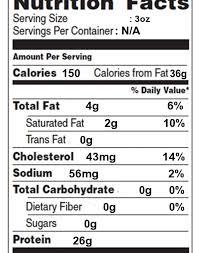 nutrition facts label meat search mytmealplanner in sirloin steak food label