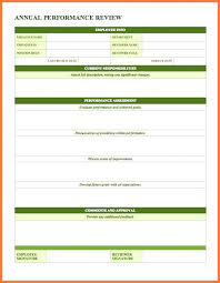 Easy Performance Review Template Employee Review Template Word Easy Evaluation Form Print Download
