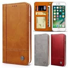 luxury magnetic wallet case cover for iphone 8 plus case leather silicone transpa tpu for apple iphone 8 flip phone case