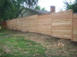 Horizontal Cedar Fence Protecting Farmhouse Design and Furniture