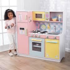 <b>KidKraft</b> Wooden Large <b>Pastel</b> Kitchen with 4 Piece Accessory Play ...