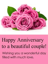 very happy anniversary saying on card