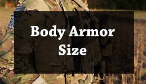 The Bulletproof Body Armor Size Chart Tactical1equipment