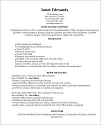 Resume Templates: Secretary