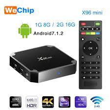 Wechip X96 Mini Smart Android 7.1 Tv BOX 2G 16G Set Top Box 1G 8G X96mini  support 4K HD 2.4G Wireless WIFI Media Player / BestDealPlus