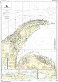 Noaa Nautical Chart 14964 Big Bay Point To Redridge Grand Traverse Bay Harbor Lac La Belle Harbor Copper And Eagle Harbors