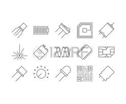 254 wiring systems stock vector illustration and royalty wiring systems circuit diagram outline icons set illustration