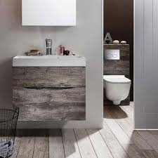 brown bathroom furniture. Bauhaus Glide II 50 Wall Hung Vanity Unit With Basin Brown Bathroom Furniture S
