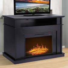 details about black electric fireplace tv console stand for tvs up to 41 w remote control