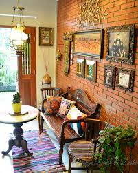 Indian Inspired Wall Decor An Eclectic Home Chettinad House Design Pinterest Home