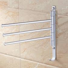 Kitchen Towel Rack Aluminum Towel Rack Prateleira 3 Hinge Bars Rotating Bar Wall