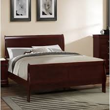 cherry wood bedroom set. Guffey Twin Platform Bed In Cherry Wood Bedroom Set