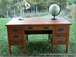 vintage office desk. an antique teacheru0027s desk found at goodwill for 25 gets a makeover what difference vintage office e