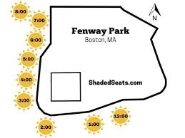 shaded seats at fenway park find red
