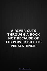 Persistence Quotes Classy Inspirational Life Quotes A River Cuts Through Power Persistence