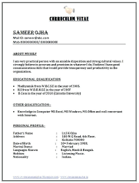 Resume Formats For Experienced Free Download Resume Free Format