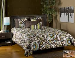 queen furniture sets purple brown  modern bedding sets queen blue chocolate olive green modern paisley i