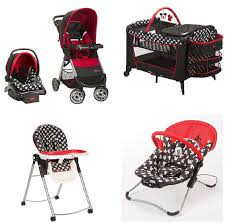 com baby bundle collection baby gear bundle collection travel system play yard high chair al swing or bouncer mickey by disney baby