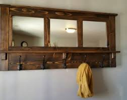 Wooden Coat Rack With Bench LilBitRustic On Etsy 58