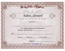 Printable Sales Awards Certificates Templates