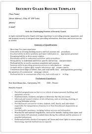 Escort Resume Wonderful 5813 Security Guard Resume Security Guard Resume Template Macrobutton