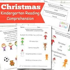 Free Christmas Reading Worksheets Free Kindergarten Reading ...
