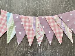LAURA ASHLEY BUNTING - double sided clementine Pink Gingham And Grape Polka  Dot - £9.00 | PicClick UK