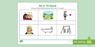 Teachers can add vocabulary images and students make. Free Ng Or Th Sound Phonics Worksheet Phonics Twinkl