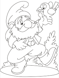 Small Picture What a game a gnome and a bird on his hand coloring pages