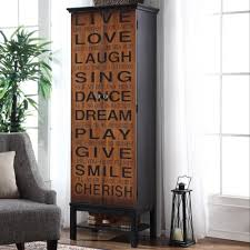 tall accent cabinet. Delighful Tall Coaster Accent Cabinets Tall Cabinet With Positive Words   Fine Furniture With T