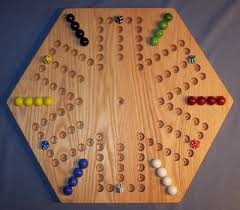 Game With Wooden Board And Marbles AGGRAVATION Game Board Instructions Charlie's Woodshop 56