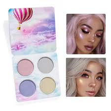 handaiyan aurora highlight palette sheer luminous highlighter face eyes lips highlighting contouring pact powder makeup best highlighter makeup body