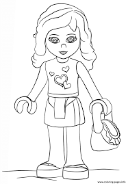 Lego Friends Olivia Coloring Pages At Getdrawingscom Free For