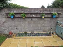 retaining wall decor garden ladder