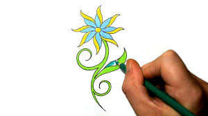 Small Picture How to Draw a Cool Simple Daisy Flower Tattoo Design YouTube