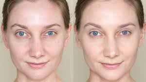 before and after wearing make up for ever ultra hd y235