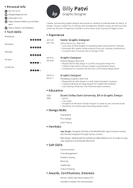 Graphic Design Interests Graphic Designer Resume Template Guide 20 Examples