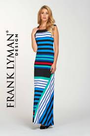 Frank Lyman Design 2016 Frank Lyman Design Gorgeous Maxi Dress With Boat Neck In