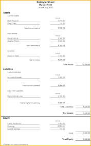 Detailed Classified Balance Sheet Classified Balance Sheet Template Excel C Example Shee