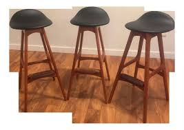 delectable erik buch danish teak bar stools set of 3 teak bar table and chairs pictures home dining