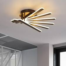 brown bar semi flush light fixture