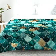 mermaid bedding set little twin scale blue pillow crib sets