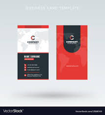 Red Design Company Modern Creative Vertical Red Business Card