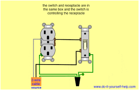 wiring diagrams double gang box do it yourself help com Wiring Diagram Switch Outlet Combo light switch controls receptacle wiring a switch outlet combo diagram