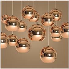glass mirror ball ceiling pendant light modern tom dixon lamp chandelier 7 sizes