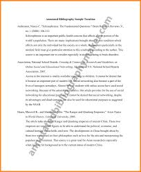 Annotated Bibliography Example Skidmore Library