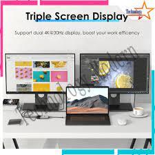 Multi Monitor Type C to HDMI Extend Display Untuk 2 Monitor 4K@60Hz (Tampil  Beda-beda)