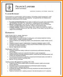 9 Analyst Resume Example Letter Adress