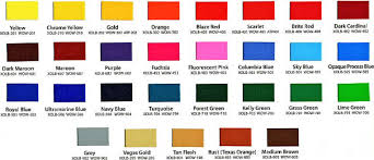 Ink Color Charts New Republic Printing