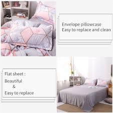 wishstar pink marble bed linen set